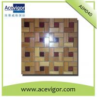 Quality Interior teak wood mosaic wall tiles for indoor decoration wholesale