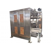 China SS304 40kg Heavy Bag rice Packaging Machine 380V green color on sale