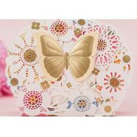 Cheap Butterfly Custom Colored Kraft Paper Candy Boxes For Party Candy Packing for sale