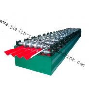 Quality PLC Hydraulic Ridge Cap Roll Forming Machine , Automatic Galvanized Metal Rolling Form Line wholesale