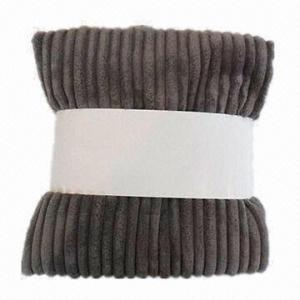 Quality Wide Wale Stripe Blanket with Microfleece Back wholesale