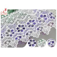Cheap White 100% Polyester Water Soluble Lace Trim For Clothing Factory for sale