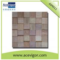 Quality Eco-friendly solid wood wall tiles, boat wood 3D wall mosaic tiles wholesale