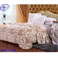 China Nonwoven high quality 100% wool plush mink blanket for sale on sale