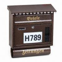 Cheap Letter Box, Made of SPCC, with Electrostatic Powder Coating/Baking, Customized Designs are Welcome for sale