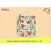 Quality High-Density 30*40cm die cut handle strong medium orange bags for snack gift pack wholesale