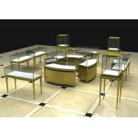Quality Modern Luxury Stain Steel Jewelry Display Cases Rectangle Square Shape wholesale