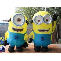 Cheap 2.5m H 2 Eyes Advertising Inflatable Minion Cartoon for sale