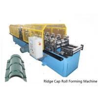 Quality Full Automatic Control 14 Stations Ridge Cap Roll Forming Machine For the Top of Warehouse of Separating Rainwater wholesale