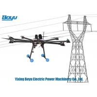 China 8 Spirals Rotary Wing Unmanned Aerial Vehicle Drone For Erecting Wires In Transmission Lines on sale