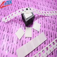 Quality Silicone Elastomer 50 Shore A White Thermal Adhesive Tape for LED Fluorescent Lamp 0.8 W/mK wholesale