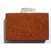 Quality Red Glass Quartz Stone Countertops 6 Mohs Hardness 36.0 MPa Flexural Strength wholesale
