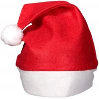 Quality Red Felt Santa Hats Christmas Party Crafts Customized Size Party Ideas For Adults wholesale