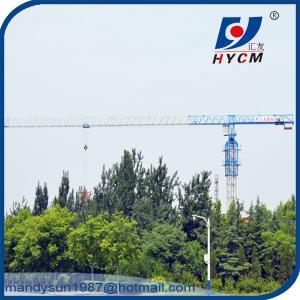 Quality 16 ton Hammer Head Topkit Tower Crane QTZ7030 With 2*2*3m Split Mast Section wholesale