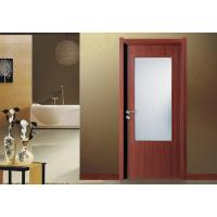 China PVC Vinyl MDF Wood Doors frosted glass with frame Fir Wood Skeleton Max Width 1100mm on sale