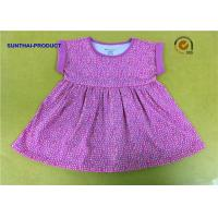Quality 0 - 24M Size Little Girl Summer Dresses Fold Cuff Sleeve Pin Dots Printed Dress wholesale