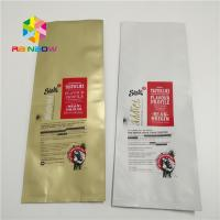 Quality Big Size Plastic Pouches Packaging , Aluminum Foil Bags With Valve Quad Seal Side wholesale