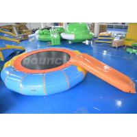 Quality Durable PVC Tarpaulin Inflatable Water Bouncer / Trampoline For Pool wholesale