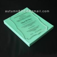 Quality B IC (3) romantic clear acrylic invitation wholesale