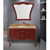 Cheap Red Wine color Traditional Bathroom Vanities mirrored Stainless steel soft hinges for sale