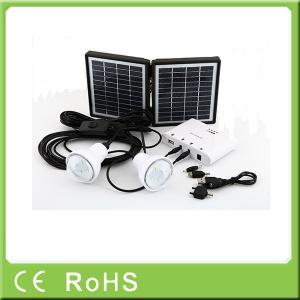 Quality 3.4W 11V li-ion battery rechargeable LED lighting solar home kit solar panel wholesale