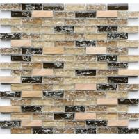 rectangle crack crystal glass mix metal mosaic tile kitchen backsplash