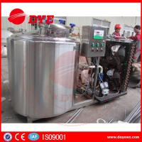 Cheap Horizontal 200L Stainless Milk Cooling Tank Trailer Safety Prevents Bacteria From DYE for sale
