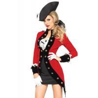 Quality Military Red Coat Womens Sexy Costumes  Halloween Party Dress wholesale