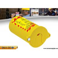 China PP Material Lock Out Tag Out  , Yellow Pneumatic Gas Cylinder Lockout Tagout on sale