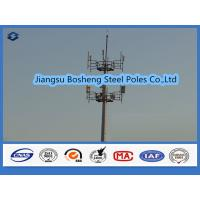 Quality Mobile antenna mast above 95% Penetration rate , steel telegraph poles White Color wholesale