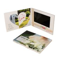 China CMYK Invitation Lcd Video Greeting Card Digital Book 1200*600 Pixel With USB Cable on sale