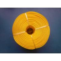 Quality 3 Strand High Strength PP Monofilament Twisted Rope For Packing , Yellow Color wholesale