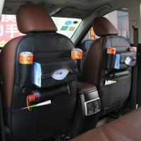 Quality PU material hot sell special design black car seat back organizer wholesale