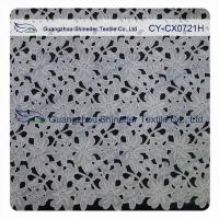 China Thick Polyester Charming Allover Fabric Chemical Lace For Lady Garment on sale