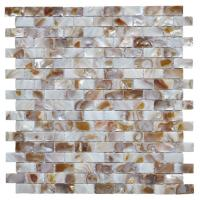 Quality Morden Luxury Mother Of Pearl Wall Tile , 3d Brick Custom Mosaic Tile wholesale
