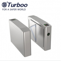 Quality 304 Stainless Steel Flap Barrier Gate RFID Reader For Office Building wholesale