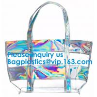 China Holographic Women Fashion Hologram Laser Drawstring Backpack School Sport Gym Tote Bag,Cosmetic Bag Travel Storage Zippe on sale
