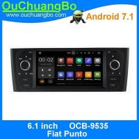 Quality Ouchuangbo 6.1 inch car audio player multimedia android 7.1 for Fiat Punto with 1024*600 gps navi Bluetooth music SWC wholesale