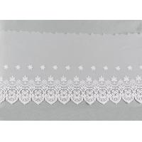 Quality Embroidered Nylon Dying Lace Fabric Bilateral Symmetry Lace For Wedding Dresses wholesale