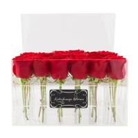 Quality custom made cheap wholesale plastic rose acrylic flower box design wholesale
