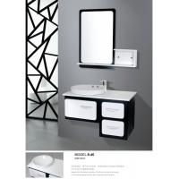 Quality Balck / White modern floating bathroom vanities wall mount soft closer with drawer wholesale