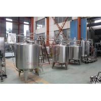 Quality Stainless Steel Beverage Mixer Carbonated Drink Production Line With Piston Filling System wholesale