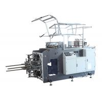 Cheap Intelligent Paper Lunch Box / Cake Box Making Machine With Hot Melt Glue System for sale