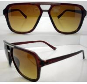 Quality Yellow Plastic Frames Sun Glasses , Lightweight Dark Glasses wholesale