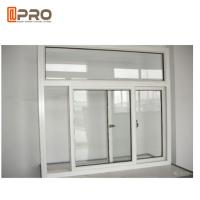Quality Powder Coated Office Interior Aluminium Sliding Windows Customized Size wholesale