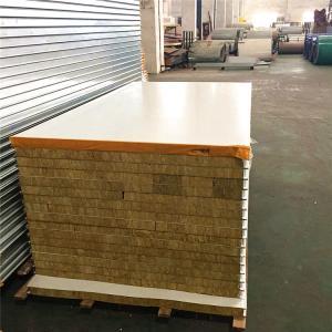 Quality 0.326mm steel sheet fireproof rock wool sandwich panel 5950 x 1150 x 50mm wholesale