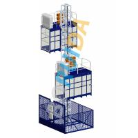 Quality Blue Cage Of Construction Hoist Elevator , Construction Material and Personal , Single Lifting Cage wholesale