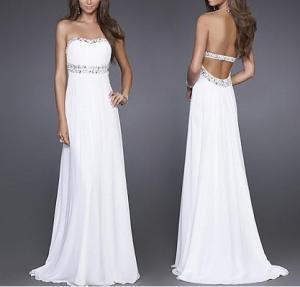 Quality Maxi Backless Evening Dresses , OEM, ODM Slim Prom Dresses wholesale