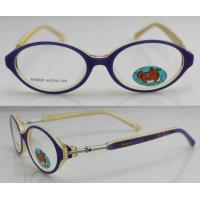 Quality Full Rim Acetate Optics Frames , Kids Glasses Frames Oval Design wholesale