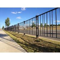 Cheap Welded Feet Road Fence Barrier Steel Solid Structure Powder Coated Rust - Proof for sale